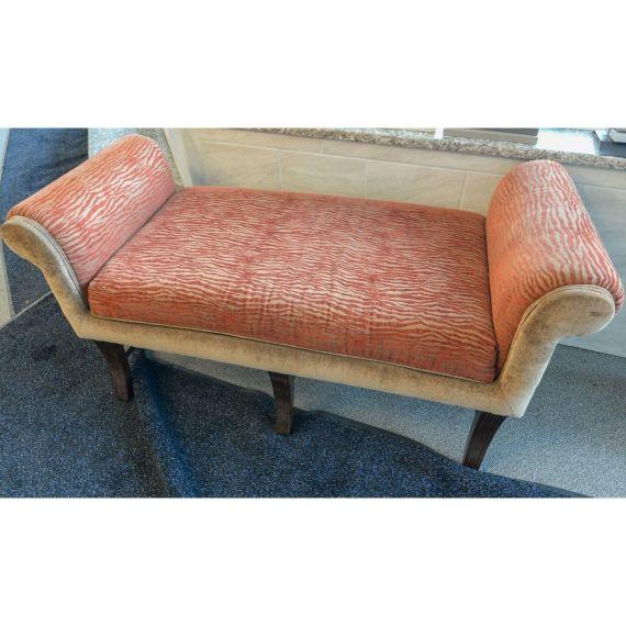 Uttermost Tiger Stripe Upholstered Bench