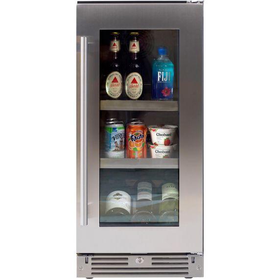 """XO 15"""" Stainless Beverage Center"""