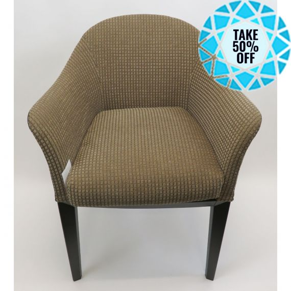 Giorgetti Patterned Curved Chair