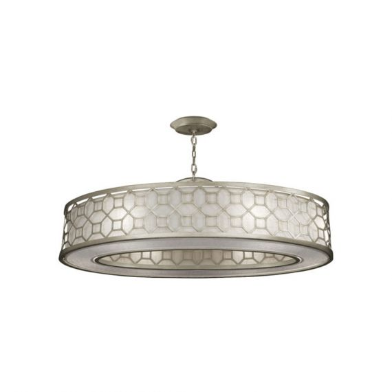 "Fine Art Lamps Allegretto 45"" Silver Leaf Oblong Pendant"