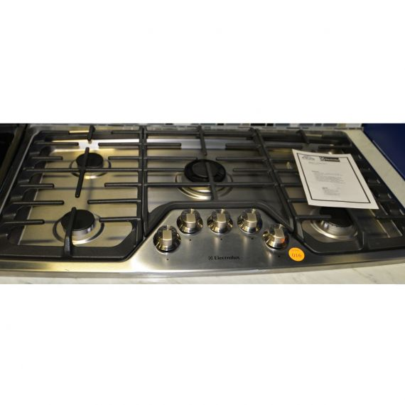 """Eletrolux 36"""" Stainless Gas 5 Burner Cooktop"""