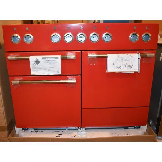 "AGA Mercury 48"" Scarlet Red Induction Range"