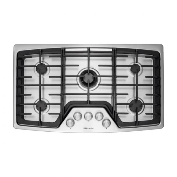 """Electrolux 36"""" Gas 5 Burner Stainless Cooktop"""