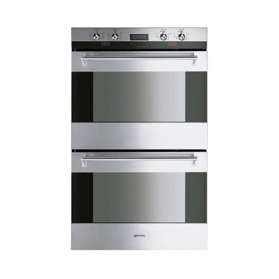 """Smeg 30"""" Stainless Electric Double Wall Oven"""