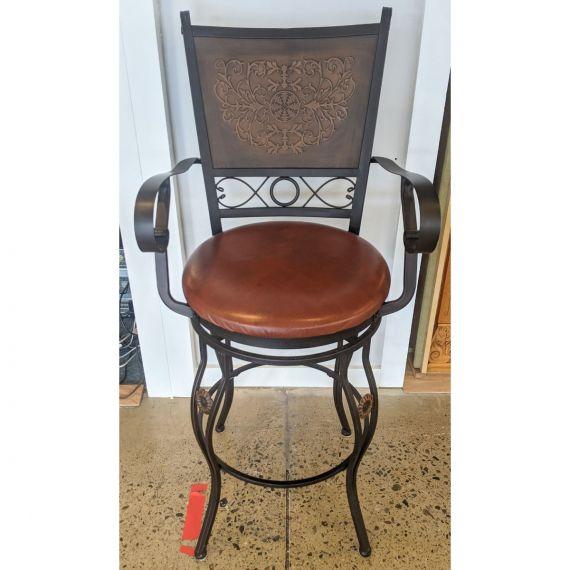 Wrought Iron Bar Stool w/ Cushion