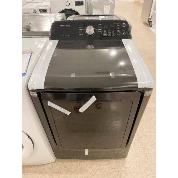 """Samsung 27"""" Black Front Load Gas Dryer"""