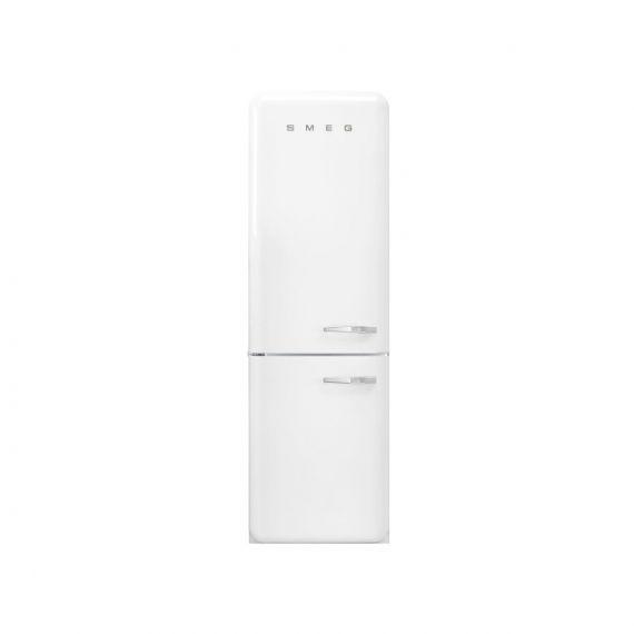"Smeg 24"" Freestanding White Bottom Mount Refrigerator"