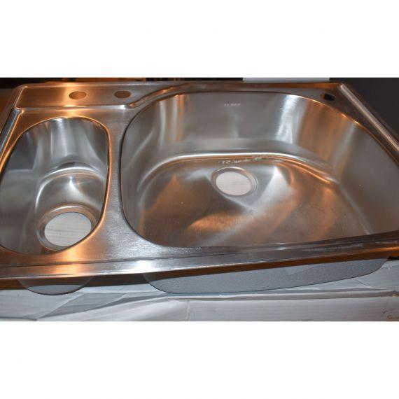 """Elkay Gourmet 33"""" Stainless 1.5 Top-Mount 3-Hole Sink"""