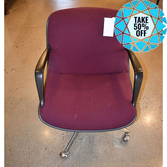 Red & Chrome Swivel Office Chair