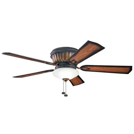 "Kichler Dorset 52"" Mediterranean Walnut Ceiling Fan"