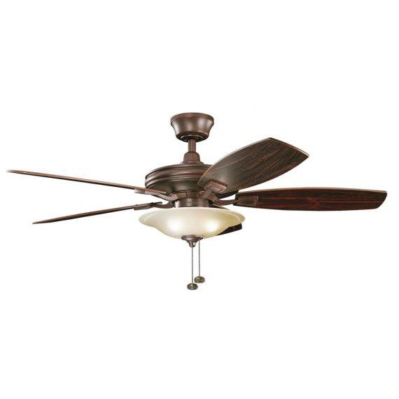 """Kichkler Rokr 52"""" Tannery Bronze Ceiling Fan"""