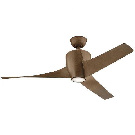 "Kichler Phree 56"" Walnut LED Ceiling Fan"
