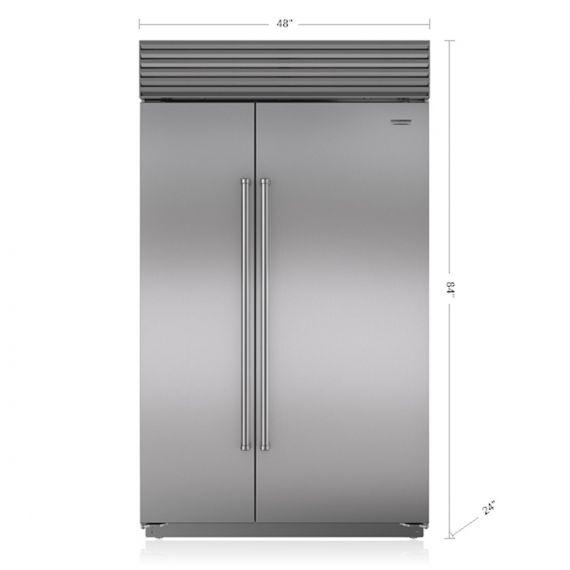 "Sub-Zero 48"" Panel Ready Side By Side Refrigerator"