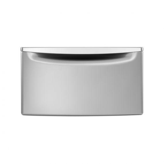 "Maytag 27"" Chrome Shadow Laundry Storage Pedestal"