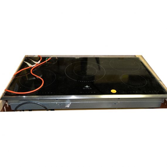 """Diva 36"""" Stainless Induction 5 Burner Cooktop"""