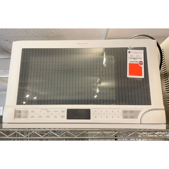 """Sharp 24"""" White Over-The-Counter Microwave"""