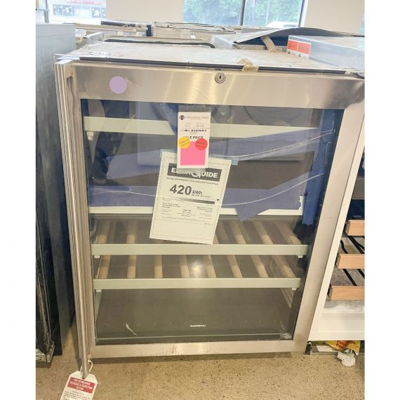 "Gaggenau 24"" Stainless Wine Cooler w/ Glass Door"