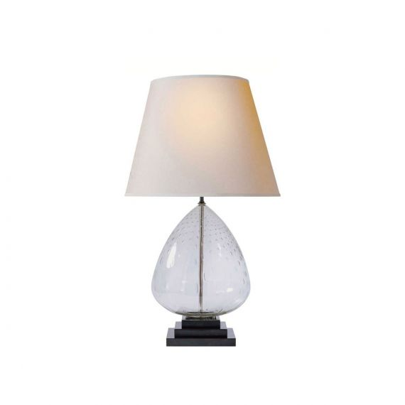"""Thomas O'Brien Miro 32"""" Clear Seeded Glass Table Lamp"""