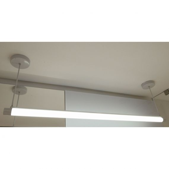 Contemporary Grey Suspended Linear Bar Light