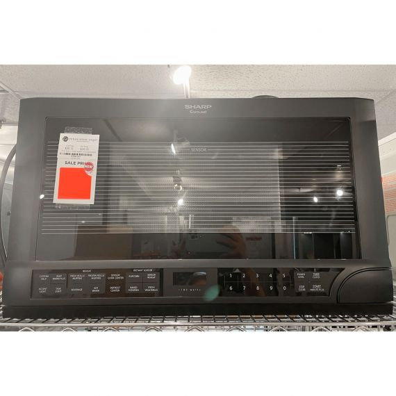 """Sharp 24"""" Over-The-Counter Black Microwave"""