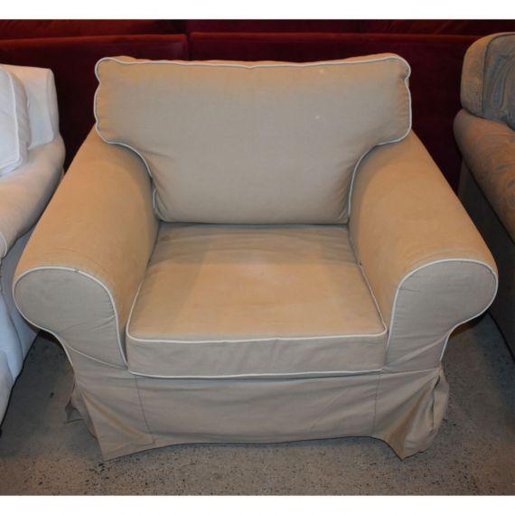 Ikea Ektorp Tan Slipcover Armchair