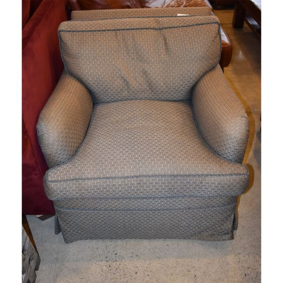 Octagonal Patterned Upholstered Armchair