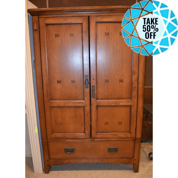 Wooden Entertainment Armoire