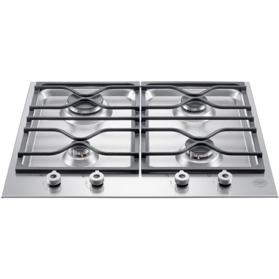 """Bertazzoni 24"""" Stainless Gas Cooktop w/ 4 Burners"""