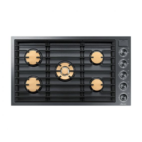 """Dacor Contemporary 36"""" Graphite Stainless 5 Burner Gas Cooktop 2020"""