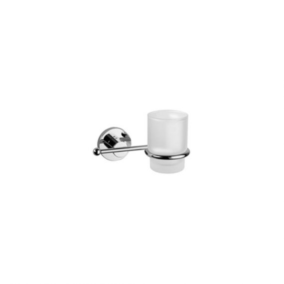 Graff Brushed Nickel Tumbler & Holder