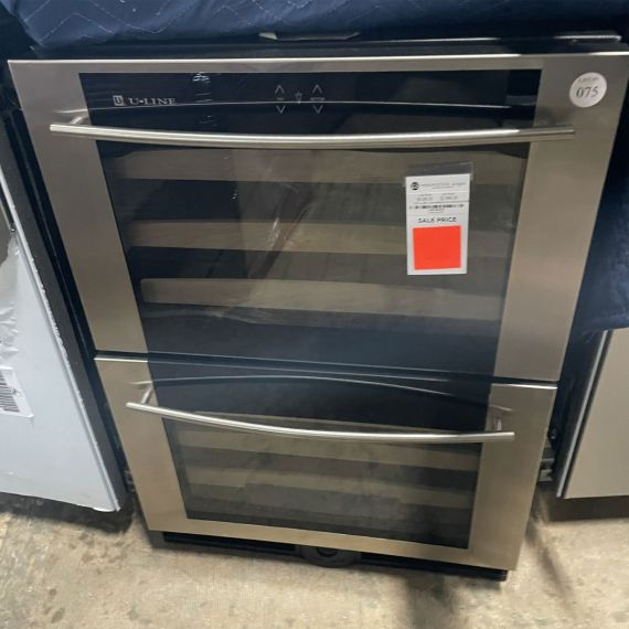 """U-Line 24"""" Stainless Double Drawer Wine Cooler"""