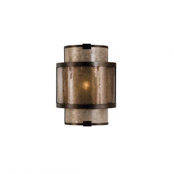 "Fine Art Lamps Singapore Moderne 12"" Brown Bronze Sconce"