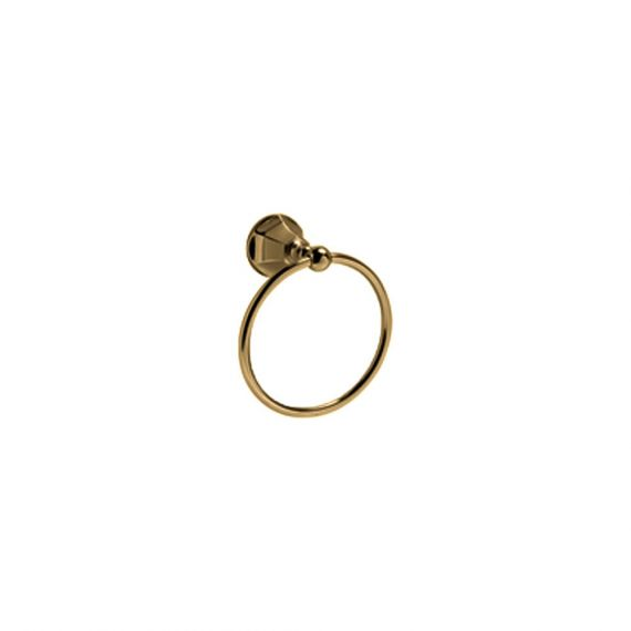 Graff Topaz Brushed Brass Towel Ring