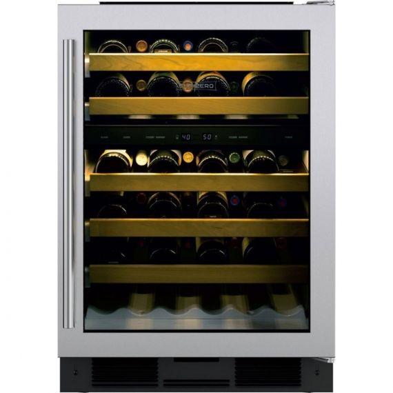 "Sub-Zero 24"" Stainless Steel Right Hinge Wine Cooler W/Glass Door"