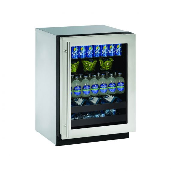 "U-Line 24"" Stainless Under-Counter Beverage Cooler 2019"