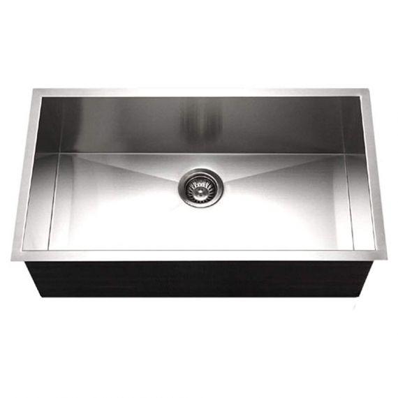 Houzer Contempo Series Stainless Single Under-Mount Kitchen Sink