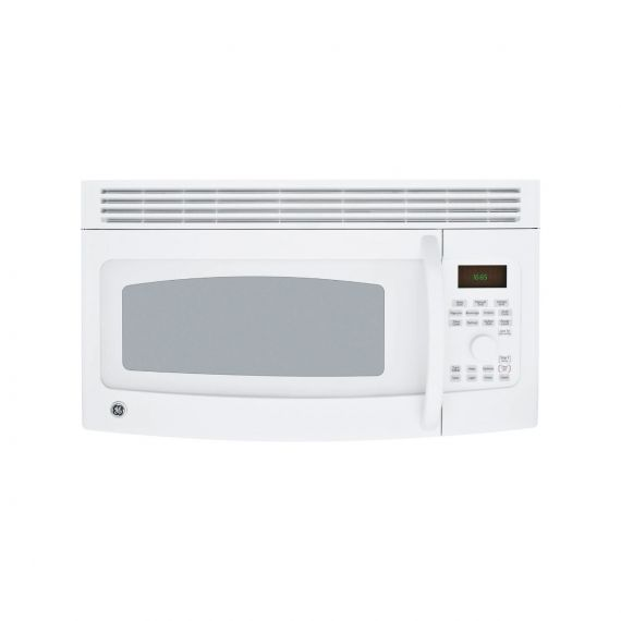 """GE 30"""" White SpaceMaker Over-The-Range Microwave"""