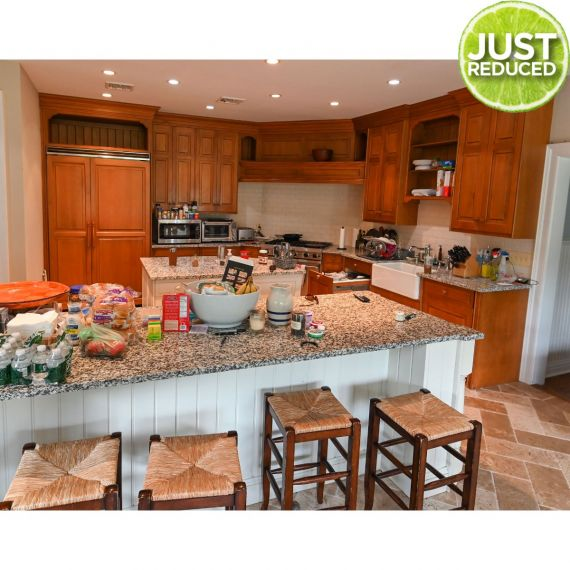 Custom Sweet Maple & Cream Traditional Pre-Owned Kitchen