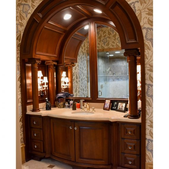 Wooden Arch Inset Single Vanity