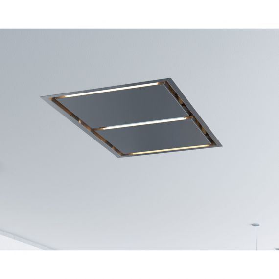 """Zephyr Lux Island 44"""" Stainless Ceiling Mount Range Hood No Blower"""