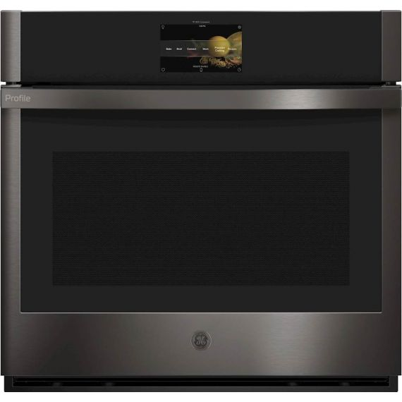 """GE Profile 30"""" Black Stainless 2021 Smart Single Wall Oven"""