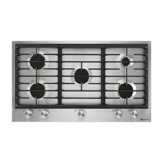 "JennAir Euro-Style 36"" Stainless 5 Burner Gas Cooktop"