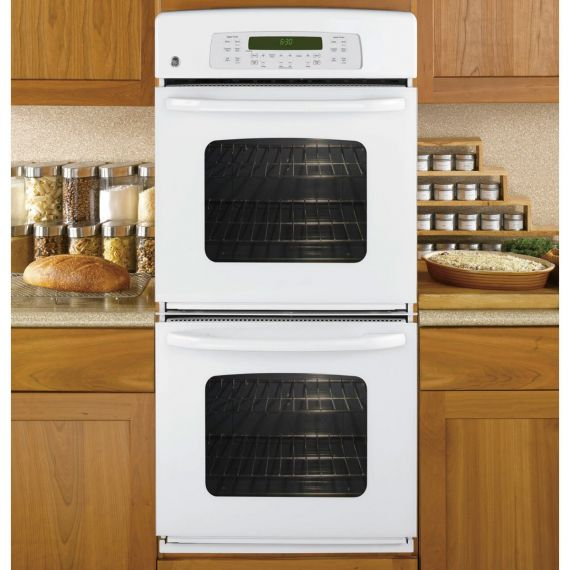 "GE 27"" White Double Oven"