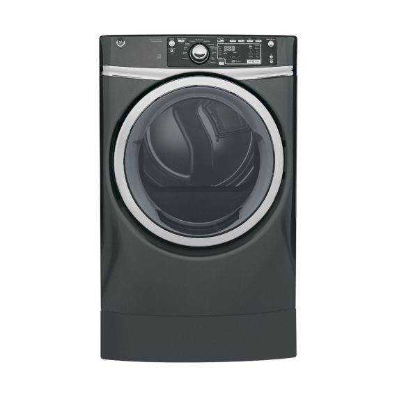 "GE 28"" Diamond Gray Electric Front Load Dryer"