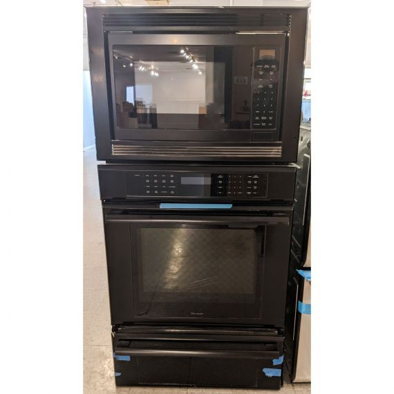 """Thermador Masterpiece 30"""" Black Oven/Microwave/Warming Drawer Combo"""