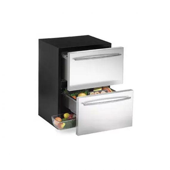 "U-Line Echelon 24"" Stainless Refrigerator Drawers"
