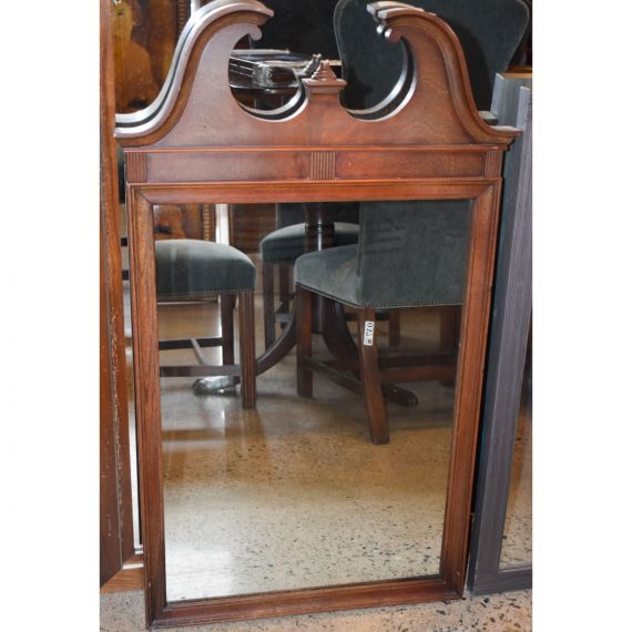 Dark Cherry Ornate Mirror