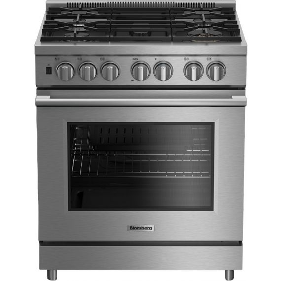 """Blomberg 30"""" Stainless Pro Gas Range with 5 Sealed Burners"""