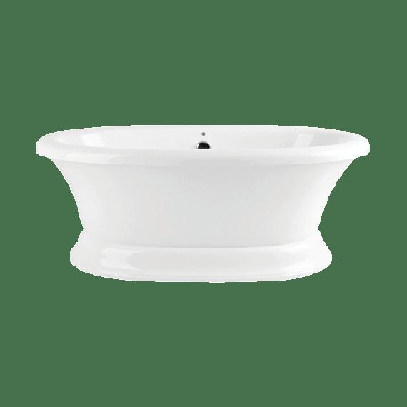 Bainultra Naos Soaker Tub, Nickel Waste & Overflow, Warmtouchshell, Tube Towel Bar