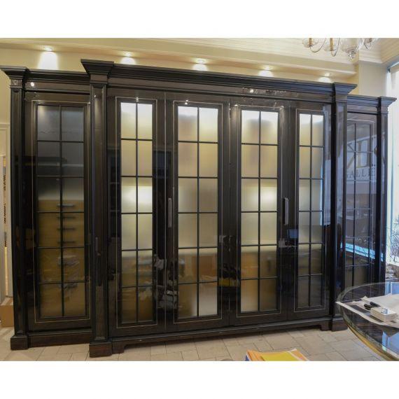 Two-Tone Glossy Modern Showroom Display Wet-Bar